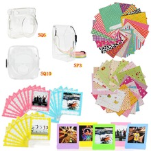 6 in 1 SQUARE Film Accessories Set Transparent Protective Case Photo Frame Stickers Storage Bag for SQ10/SQ6/SP3
