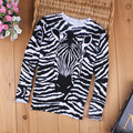 Trend kids sweaters 2017 spring and autumn zebra print striped o-neck sweater baby boys sweater knitted pullover top