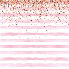 White and Pink Stripe Backdrop Printed Confetti Pieces Newborn Baby Shower Props Kids Children Girl Birthday Party Background(China)