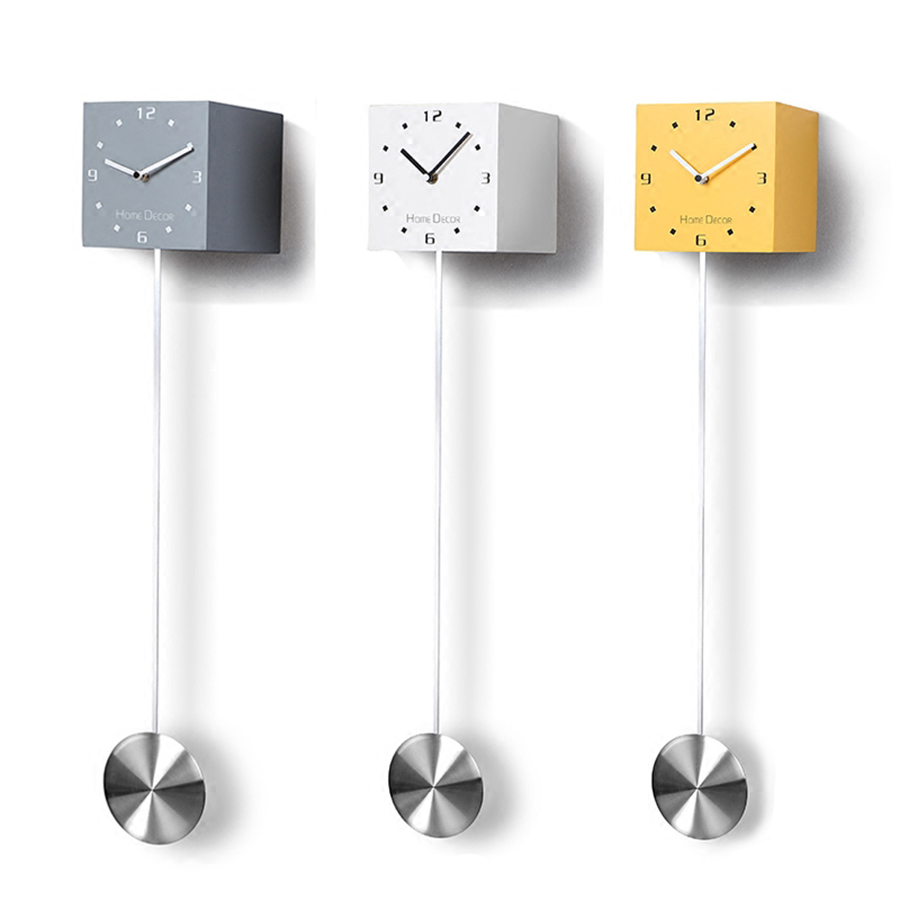 Wooden Pendulum Square Clock Cuckoo Cute Art Wall Clock Modern Design Children Creative Wandklok Decoration Watch Home 50w300