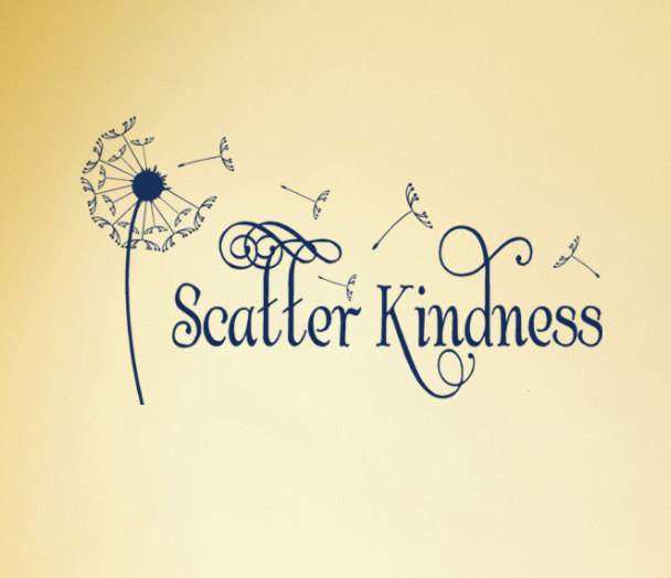 Scatter Kindness Vinyl Wall Decal Quote Wall Stickers Dandelion ...