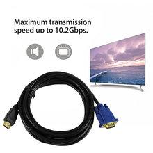 3 м HDMI To VGA кабель 15Pin адаптер мужчинами видео 1024×768 P Высокое разрешение супер быстрая передача скорость