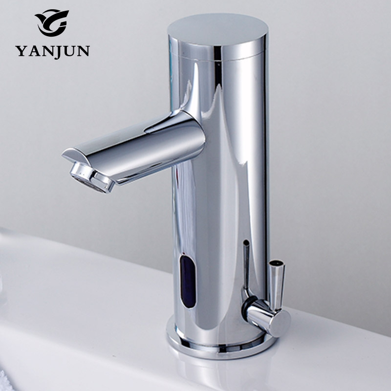 Yanjun Touch-Free Infrared Sensor Faucet Automatic Shut Off Faucet Hot And Cold Basin Mixer Lavatory Bathroom Kitchen YJ-6625 yanjun automatic sensor faucet infrared inductive basin faucets water saving tap brass chromed bathroom lavatory yj 6626