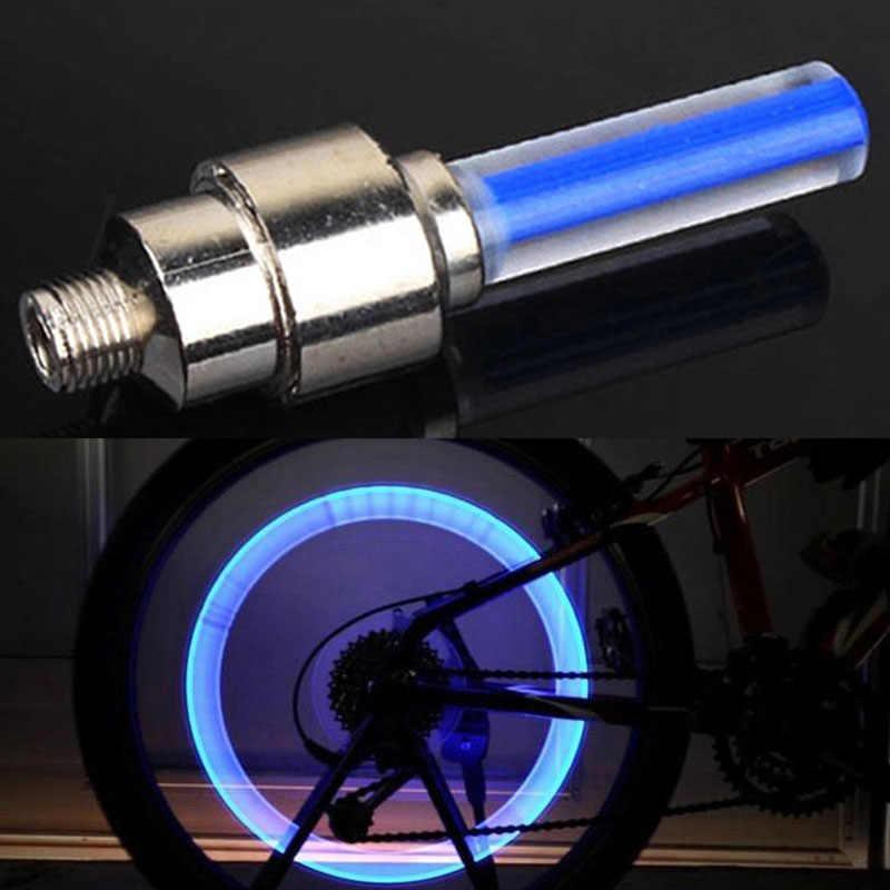 Vélo vélo lumière non avec batterie montagne vtt vélo de route lumières LED s pneu pneu Valve bouchons roue rayons LED lumière fluorescente