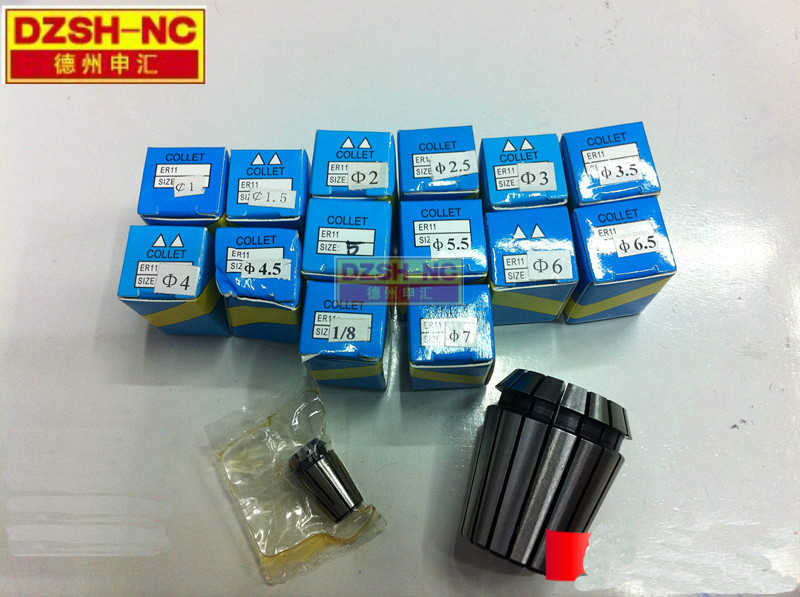 5 pcs ER11 collets 3 mm 3 175mm 4mm 6mm 7mm 1 pc ER 11 A