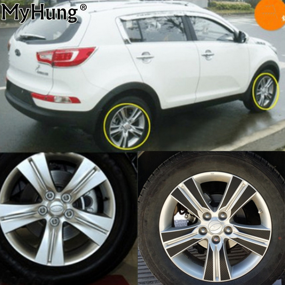 Carbon Car Wheel Mask Stickers Tire Sticker For Kia Sportage R 17 Inch Carbon Fiber Sticker 40pcs Car Accessories