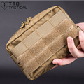Mens Mini Military Waist Packs Combat MOLLE Military Utility Accessory Bag Army Waist Bags Made of Cordura Nylon Coyote Brown