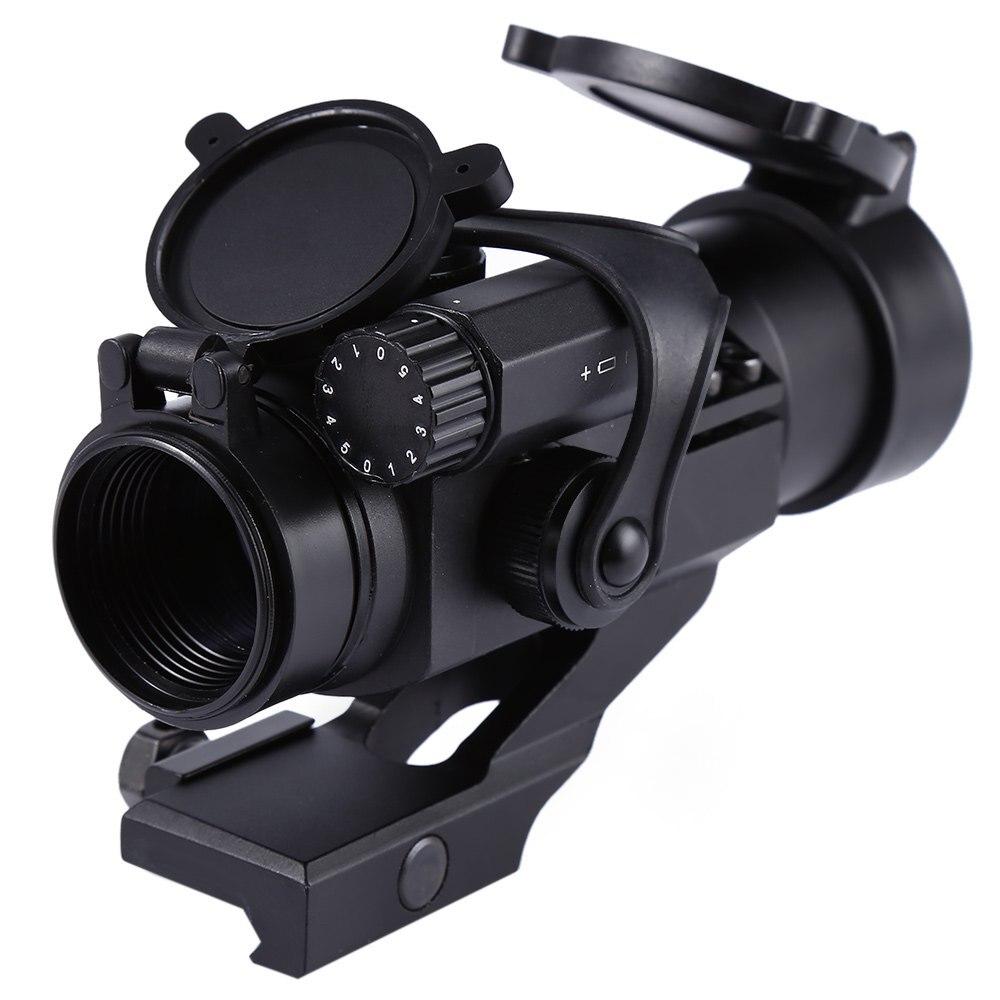 Új, professzionális, 1 x 32 mm-es taktikai taktika, piros / zöld, kompakt pont rifle M2 látókör Picatinny Weaver Rail Mount
