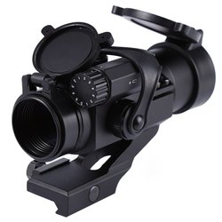 New Professional Tactical 1 x 32mm Red/Green Compact Dot Rifle M2 Scope Sight Picatinny Weaver Rail Mount