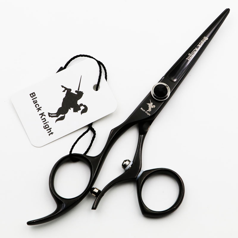 Купить с кэшбэком 5.5 inch swivel left handed scissors Black Knight Cutting Hair Professional barber Hairdressing Scissors rotary haircut shears