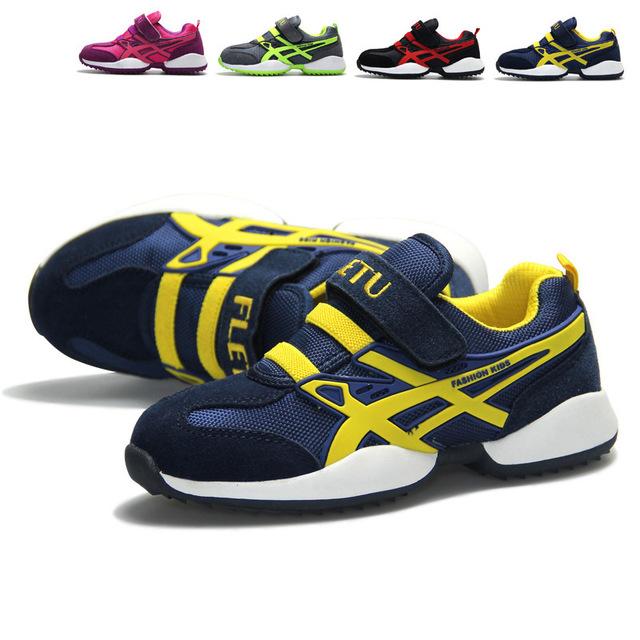 Alta calidad de la marca niños niños y niñas de cuero genuino exterior los zapatos corrientes respirables niños zapatos deportivos