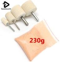 1pc 230g Cerium Oxide Powder 4pcs 1 0cm 1 5cm 2 5cm 3 0cm Wood Polishing