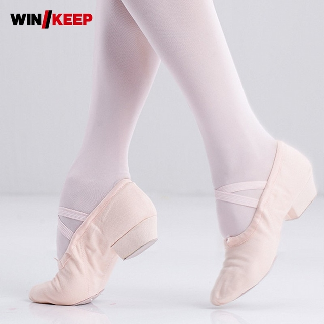 4772c94f7e56 2019 New 3 Color Canvas Soft Ballet Shoes Girl Dance Shoes Canvas Slip On  Yoga Sneakers Children Women Slippers Zapatillas Mujer