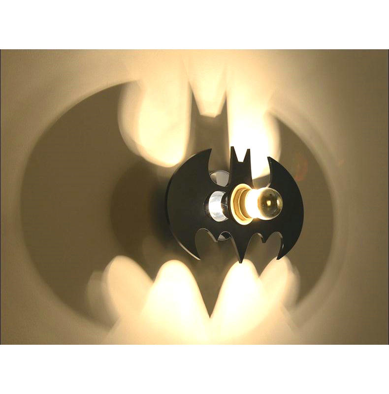 Modern Art High Grade Black Batman Wall Lamp For Home Bedroom Living Room Decoration Wall Light space shark 3d printing home wall hanging tapestry for decoration