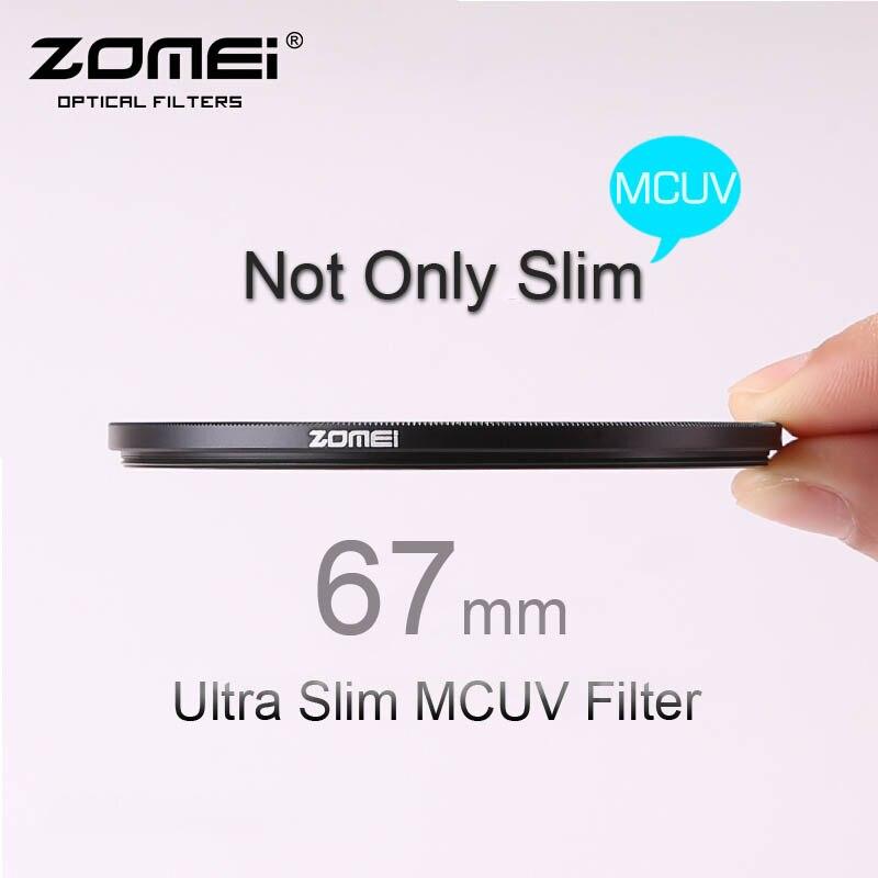 ZOMEI PRO Ultra Slim 67mm MCUV 16 Layer Multi Coated Optical Glass MC UV Filter for Canon Nikon Hoya Sony DSLR Camera Lens multi coated uv lens filter 62mm