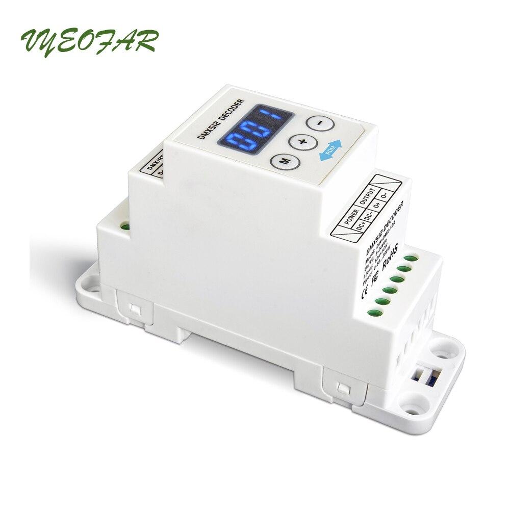 New LTECH DIN-DMX-12A DIN Rail DMX Decoder 1CH DMX-PWM Decoder;DC5-24V input;12A*1CH Max 12A output DMX512 Controller irkj91 12a page 8