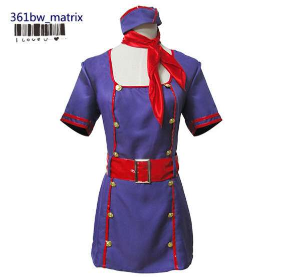 En Gros Sexy Filles Flight Attendant Costume Robe De Noël Halloween