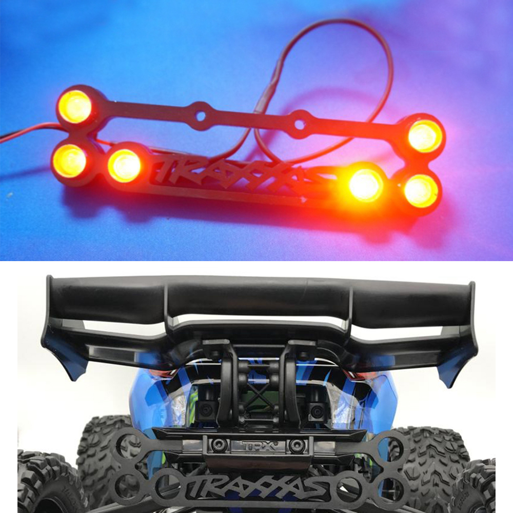 XBERSTAR Rear Bumper LED Taillight Light Lamp For 1/10 NEW Traxxas ERevo E-Revo 2.0 RC Car Brackets Kit
