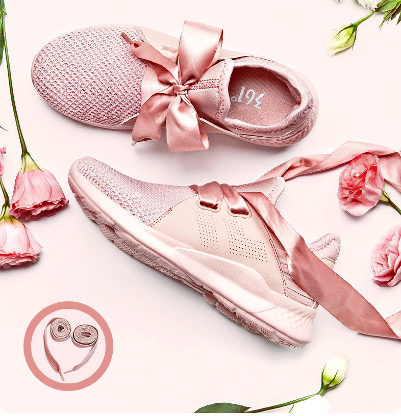 361 sports shoes women's shoes 2018 summer new authentic cherry powder running shoes 361 degrees mesh breathable running shoes