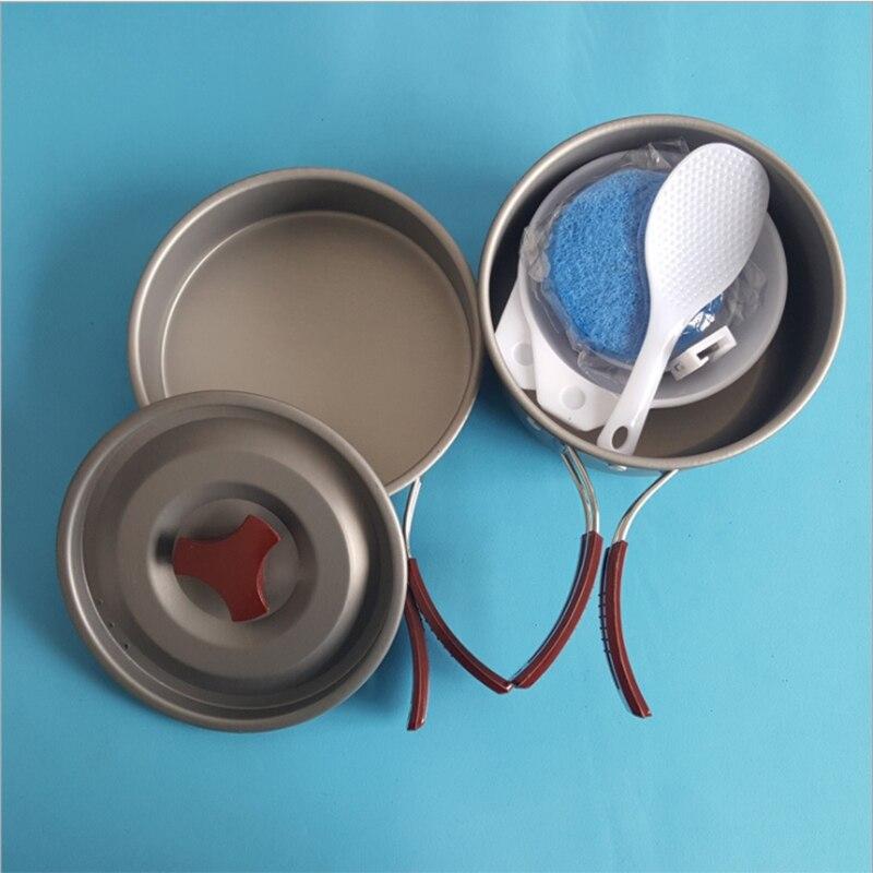 YT Dos Personas Sets Tablewares Set de Cocina de Camping De Picnic Conveniente P