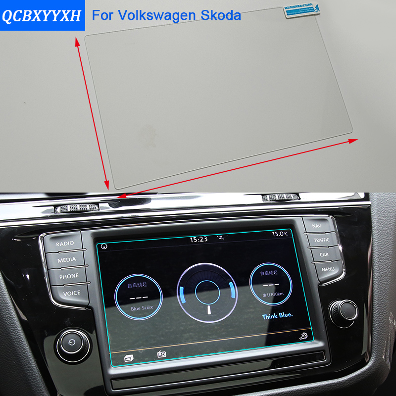 Car Styling 5.8 6.5 7 8 Inch GPS Navigation Screen Steel Protective Film For VW Tiguan L Polo Golf Touran Touareg Skoda Octavia настенный бордюр tubadzyn l steel 6 1 5x59 8 page 7