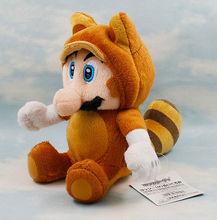 Super Mario Bros Soft Toy Tanooki Mario Plush Nintendo Stuffed Animal Figure 7