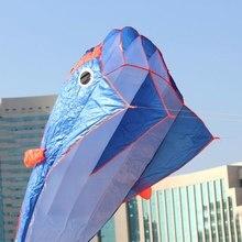 3D огромный мягкий Parafoil Большой дельфин синий Кайт+ 30 м ручка линии Спорт на открытом воздухе легко летать бескаркасных Синий Спорт на открытом воздухе#56397