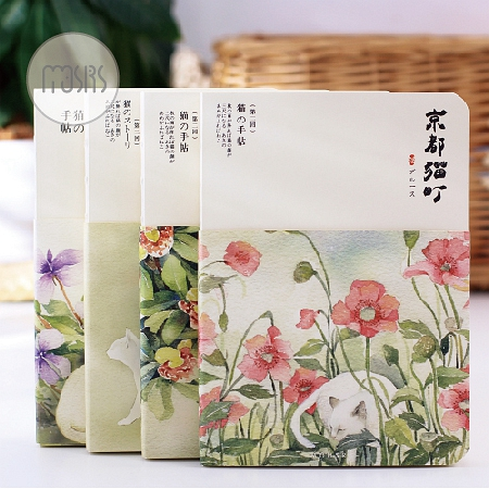 Free shipping pocket planner nuded aesthetic book notepad books notebook Japanese style hard copybook cat daily memos planner 2017 ten light color hobo japanese light amount notes the books envelope contain within core general purpose student notebook