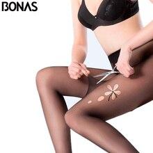 BONAS Tear resistant Pantyhose Women Sexy Breathable Tights Thin Black Skin High elasticity Nylon Stockings Female