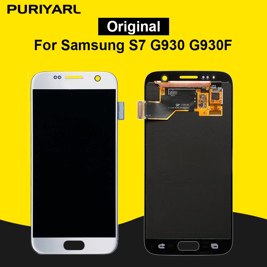 AAA Original Pantalla LCD Display For Samsung Galaxy S7 G930 G930F LCD Touch Screen Replacement Digitizer Assembly Super AMOLED