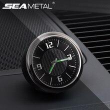 a2478d89bae9 Luminosa del tablero de instrumentos del coche reloj de cuarzo Digital Mini coche  decoración Clip de ventilación de aire Univers.