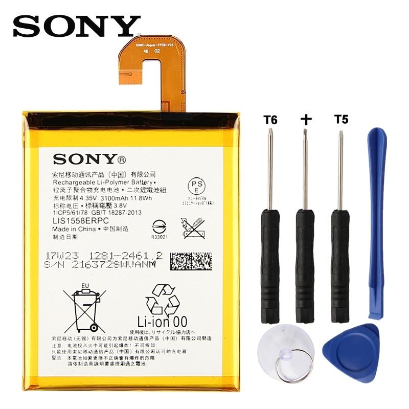 Reemplazo Original Sony batería para SONY Xperia Z3 L55T L55U D6653 D6633 LIS1558ERPC genuino batería del teléfono 3100 Mah