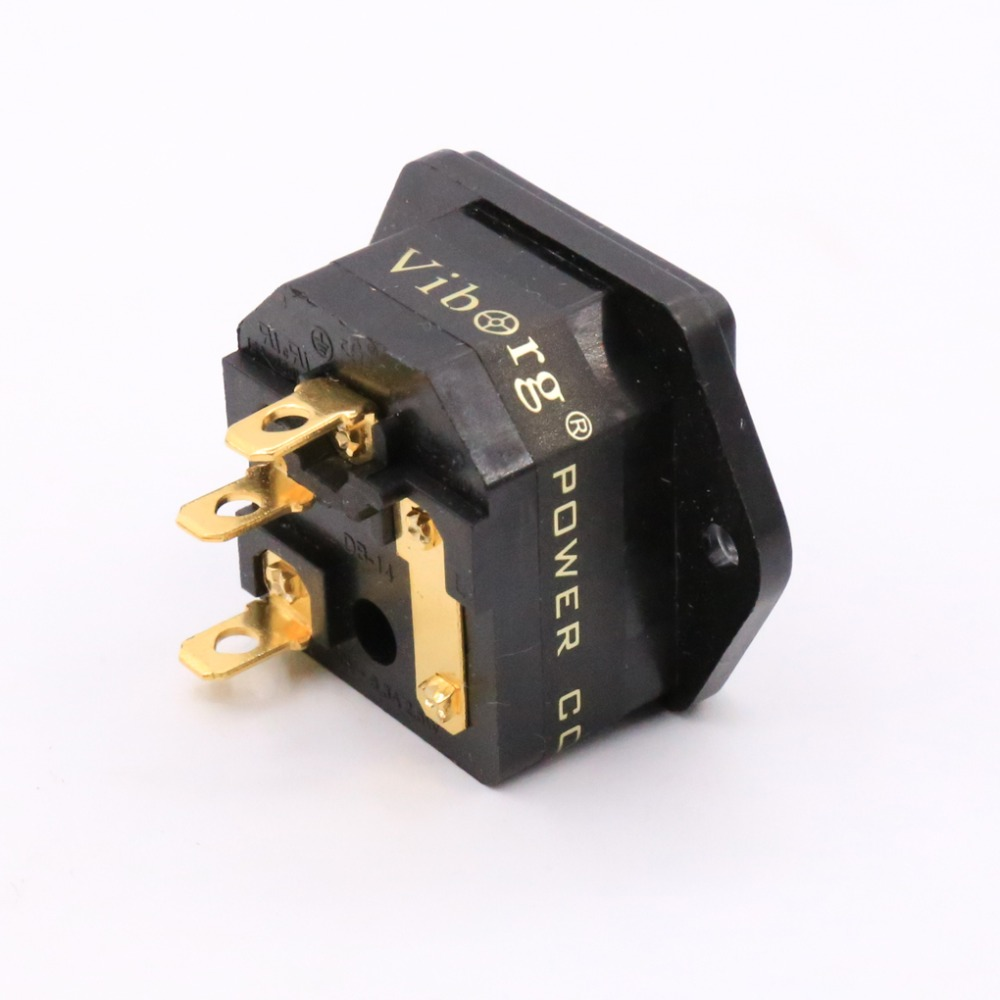 Free shipping Viborg FI 03G Fused IEC Socket/Connector Gold  Plated Power socket|Plug & Connectors|   - AliExpress
