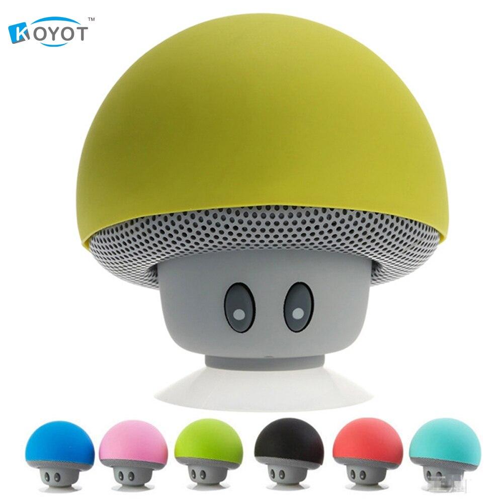 Cute Wireless Mini Bluetooth Speaker Portable Mushroom Waterproof Stereo Bluetooth Speaker for Mobile Phone iPhone Xiaomi Comput