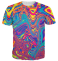 Summer Style tshirt Oil Spill T-Shirt psychedelic swirl of vibrant colors 3d Print t shirt Women Men Tee Harajuku Tops Plus Size