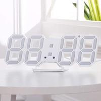 Современный цифровой 3D светодиодный цифровой настенный будильник часы повтора с 12/24 часовым дисплеем LB88