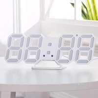 Modern Digital 3D LED digital wall Clock Alarm Clocks Snooze Clock with 12/24 Hour Display LB88