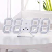 Moderne numérique 3D LED numérique horloge murale réveils Snooze horloge avec 12/24 heure d'affichage LB88