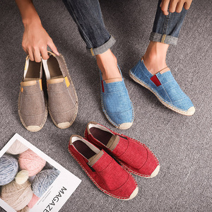 Image 2 - OUDINIAO Mens Shoes Casual Male Breathable Canvas Casual Shoes Men Chinese Fashion Soft Slip On Espadrilles For Men Loafers