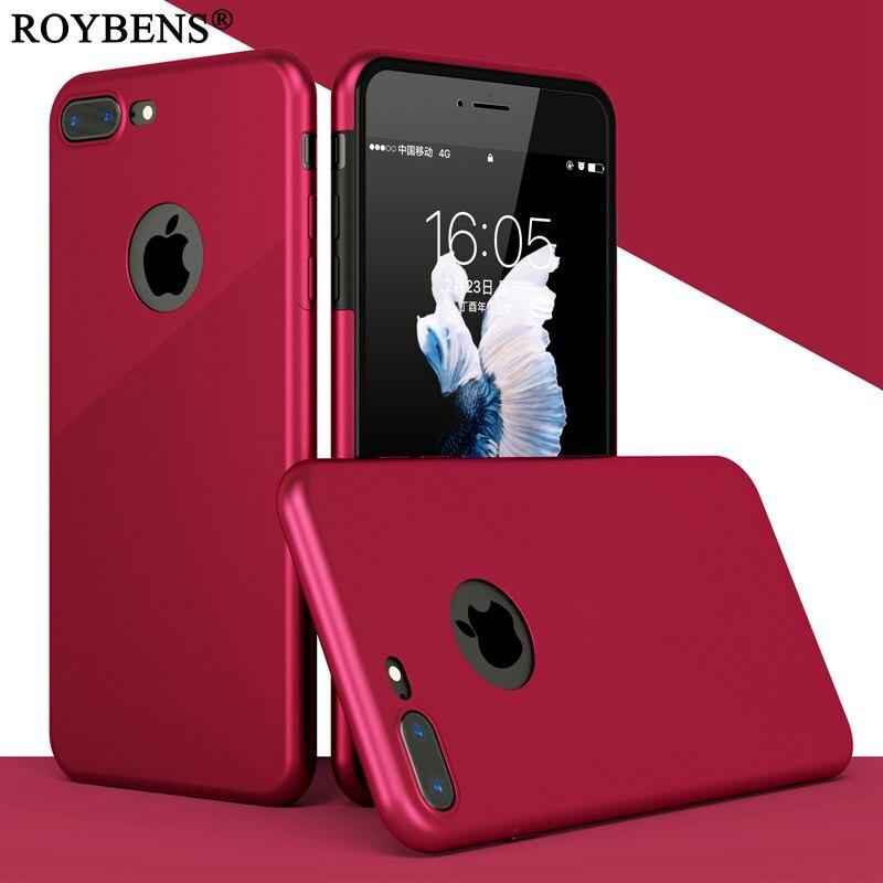 Для iPhone 6 чехол 360 градусов Полная защита жесткого PC задняя крышка + мягкий прозрачный силиконовый спереди чехол для Iphone 7 6 S плюс Капа