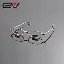 EV Portable Folding Aluminum Metal Frame Reading Glasses oculos de leitura gafas de lectura +1 +1.5 +2 +2.5 +3 +3.5 +4 EV0986