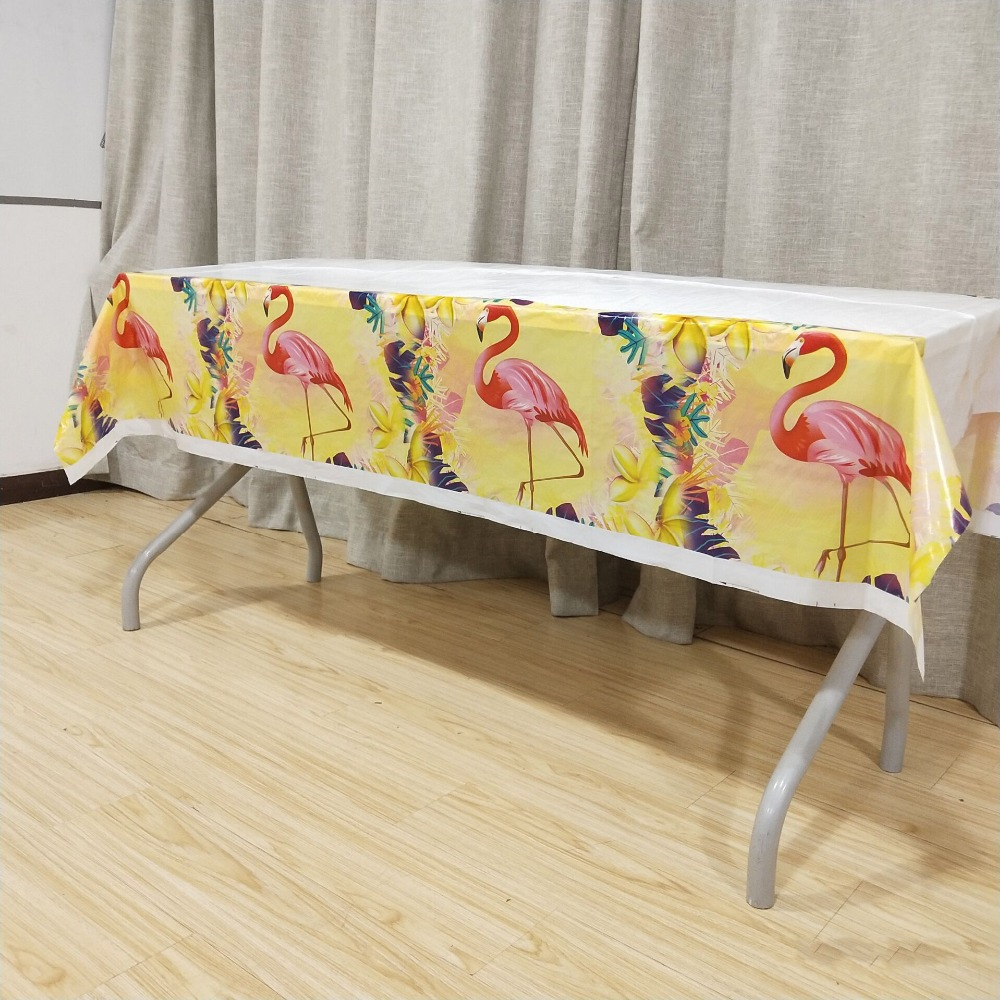 1p/set Flamingo Tablecloth Birthday Party Decorations Favors Tablecovers Baby Shower Wedding Tableware Supplies