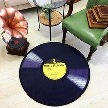 CD Carpet Mat Antique Sofa Chair Cushion Side Cat Vinyl Record Round A Few Study Model Room Decorate Rug