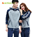 Actionclub 2016 Men's Sport Suit Spring Autumn Tracksuit Long Sleeve Fitness Outdoor Sportwear Couple Lover Suit SR286