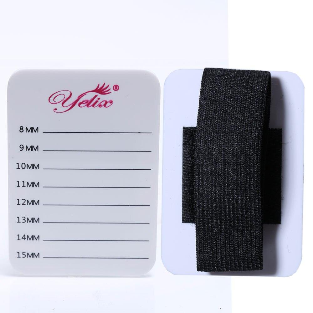 Yelix Eyelash Extension Hand Plate Holder False Lash Holder Pallet & Bandage Lash Glue Pad Lash Extension Supplies