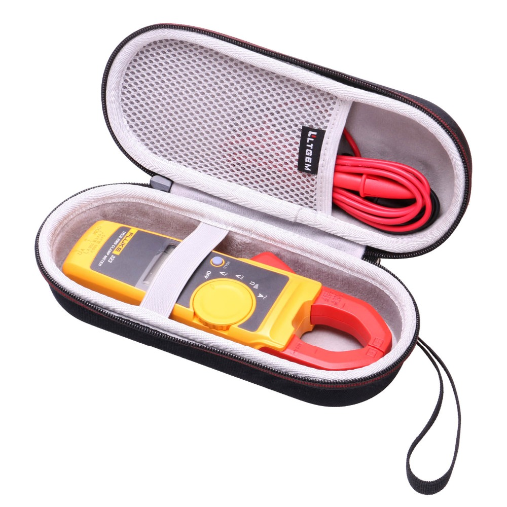 LTGEM Hard Case For Fluke 323/324/325 True-RMS Clamp Meter Clamp Multimeter AC-DC TRMS, Mesh Pocket For Accessories.