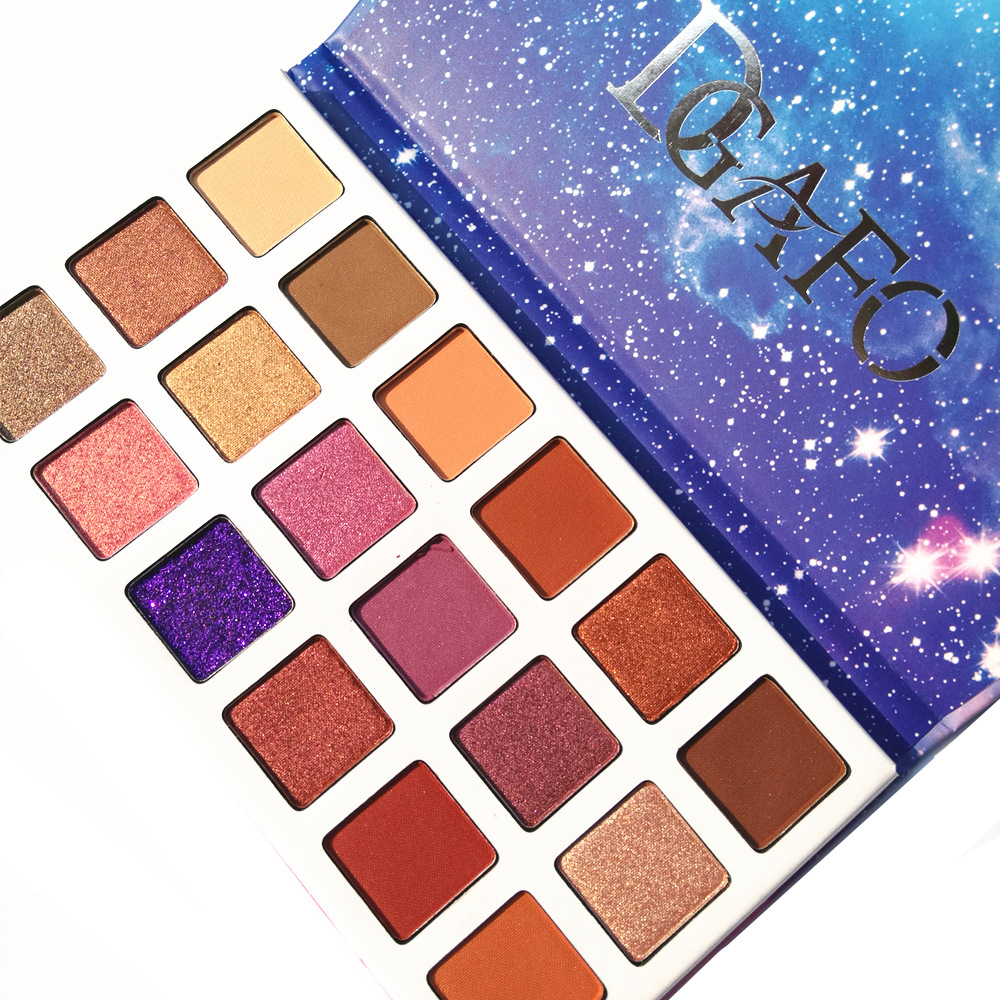 DGAFO Natural Matte Shimmer Eyeshadow Makeup Palette Luminous Long-lasting Matte Eyeshadow Cosmetics 18 Colors In1 Eye Shadow