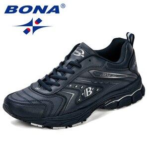 Image 3 - BONA/мужская повседневная обувь; Брендовая мужская обувь; Мужские кроссовки на плоской подошве; Удобная дышащая обувь из микрофибры для отдыха; Трендовый стиль ПРОМО КОД: 250VIP