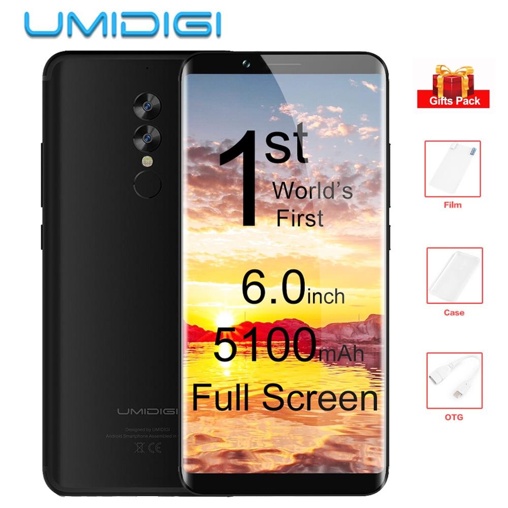 Original UMIDIGI S2 6 0 Full Screen 4GB 64GB 4G Smartphone Helio P20 Octa Core 5100mAh