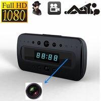 HD 1080P Clock Camera IR Night Vision Motion Detection Mini DV Remote Control video camera Security secret Cam